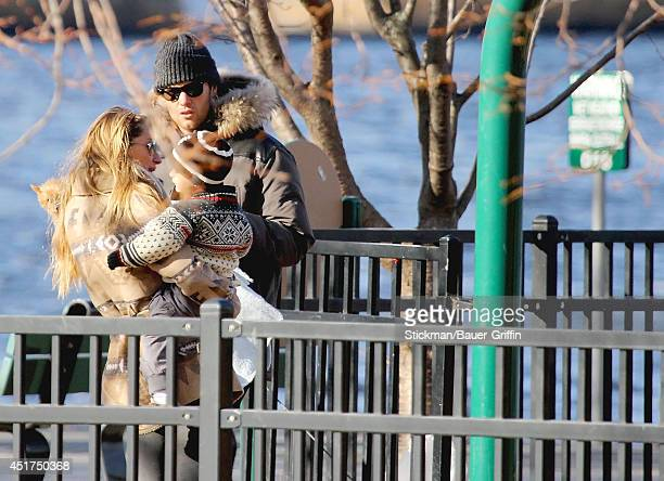 Tom Brady and Giselle Bundchen with son Benjamin Rein Brady are seen on January 02 2012 in Boston Massachusetts