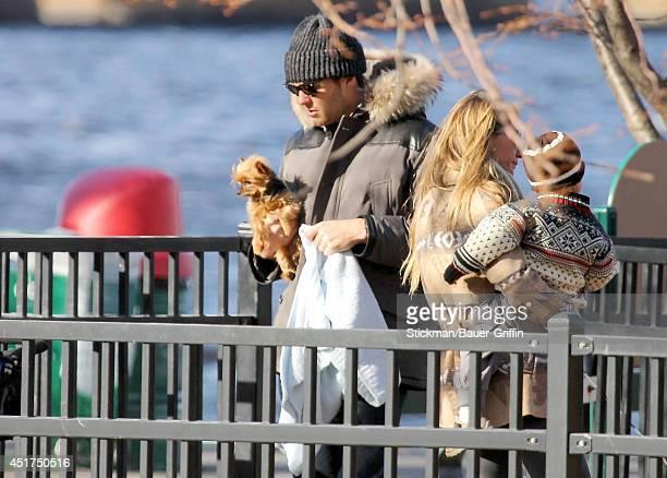 Tom Brady and Giselle Bundchen with son Benjamin Rein Brady are seen on January 02 2012 in Boston Massachusetts