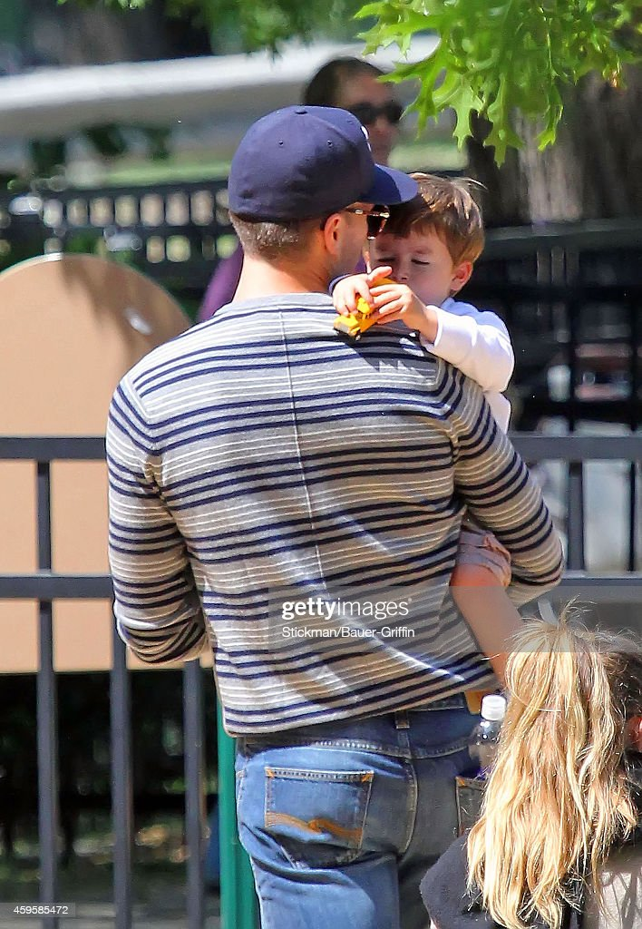 Tom Brady and his son Benjamin Brady are seen on June 01