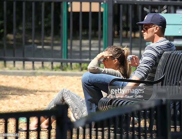 Tom Brady and his wife Gisele Bundchen are seen on June 01 2012 in Boston Massachusetts
