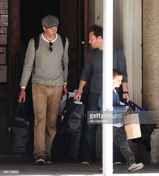 Tom Brady and John Edward Thomas Moynahan are seen on May 5 2013 in New York City