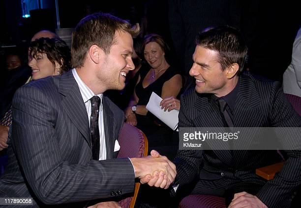 Tom Brady and Tom Cruise during 2004 ESPY Awards Backstage and Audience at Kodak Theatre in Hollywood California United States