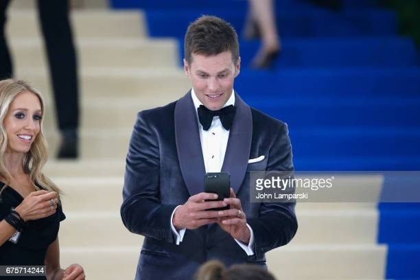 Tom Brady attends 'Rei Kawakubo/Comme des Garcons Art Of The InBetween' Costume Institute Gala at Metropolitan Museum of Art on May 1 2017 in New...