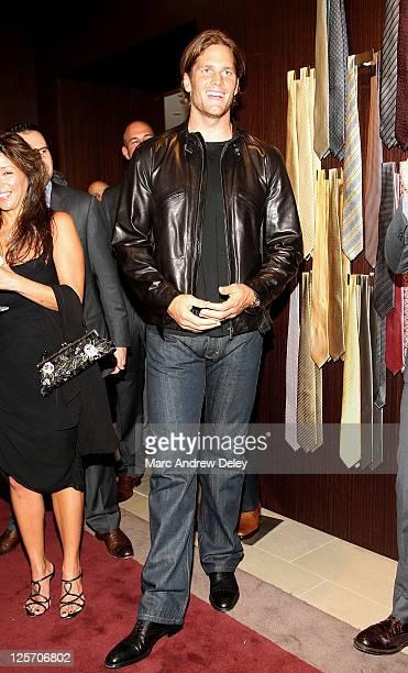 Tom Brady attends the Ermenegildo Zegna at Copley Place grand opening on September 20 2011 in Boston Massachusetts