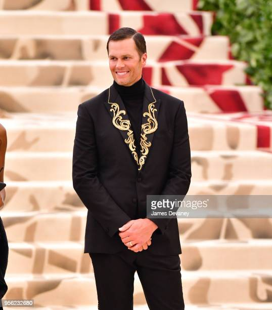 Tom Brady attends the Heavenly Bodies Fashion The Catholic Imagination Costume Institute Gala at The Metropolitan Museum of Art on May 7 2018 in New...