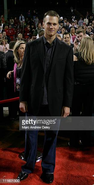 Tom Brady during 'Fever Pitch' Premiere at Fenway Park at Fenway Park in Boston Massachusetts United States