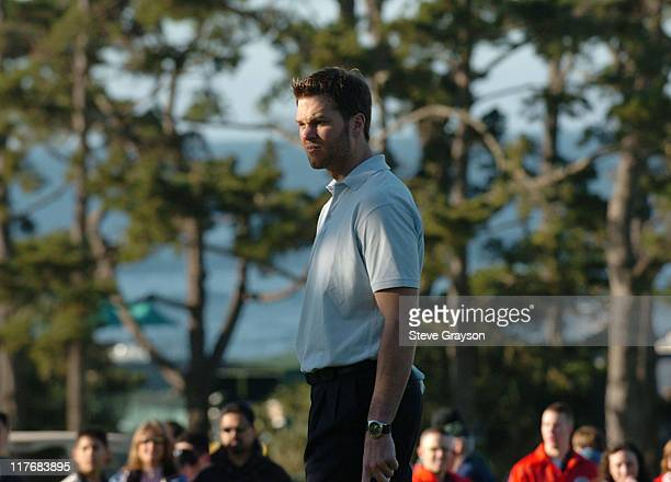 Tom Brady in action during the third round of the PGA Tours 2004 ATT Pebble Beach National ProAm at Poppy Hills Golf Course February 7 2004