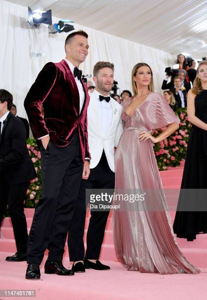 Tom Brady Julian Edelman and Gisele Bunchen attend The 2019 Met Gala Celebrating Camp Notes on Fashion at Metropolitan Museum of Art on May 06 2019...