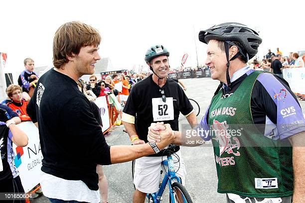 Tom Brady of the New England Patriots and the New England Patriots head coach Bill Belichick attend 2010 Audi Best Buddies Challenge Hyannis Port on...