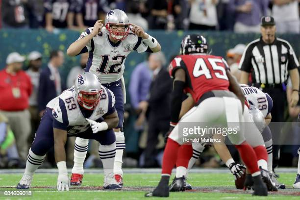 Tom Brady of the New England Patriots in action against the Atlanta Falcons during Super Bowl 51 at NRG Stadium on February 5 2017 in Houston Texas