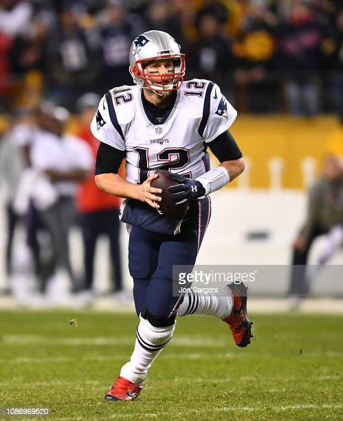 Tom Brady of the New England Patriots in action during the game against the Pittsburgh Steelers at Heinz Field on December 16 2018 in Pittsburgh...