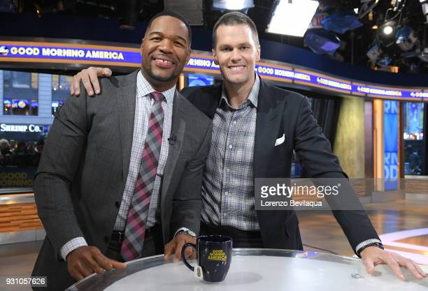 AMERICA Tom Brady of the New England Patriots is a guest on Good Morning America Monday March 12 airing on the Walt Disney Television via Getty...