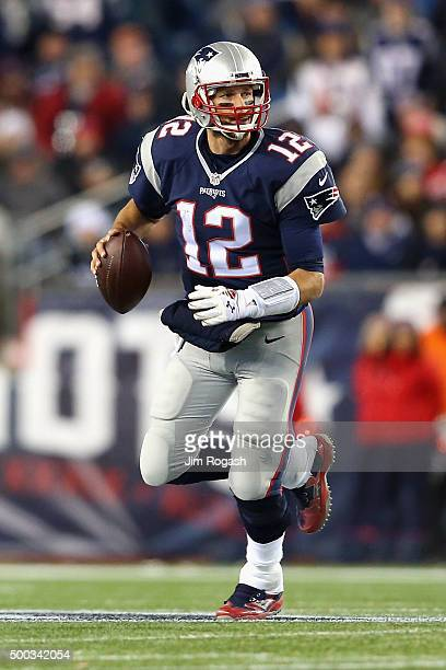 Tom Brady of the New England Patriots looks to pass during the game between the New England Patriots and the Philadelphia Eagles at Gillette Stadium...