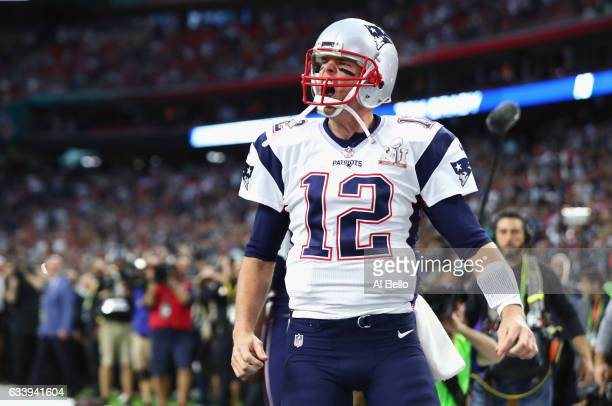 Tom Brady of the New England Patriots takes the field prior to Super Bowl 51 against the Atlanta Falcons at NRG Stadium on February 5 2017 in Houston...