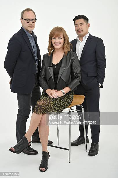 Tom Broecker JL Pomeroy and Bao Nguyen from Live From New York appear at the 2015 Tribeca Film Festival Getty Images Studio on April 17 2015 in New...
