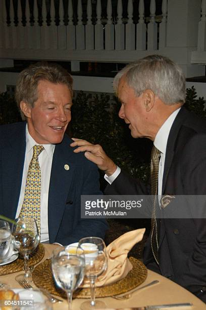 Tom Brokaw and Dan W Lufkin attend AUDUBON CONNECTICUT Fall Dinner Dance Honoring Dan W Lufkin at The Belle Haven Club on November 11 2006 in...