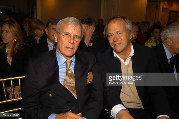 Tom Brokaw and Dick Ebersol attend A Celebration of Mike Wallace's New Book 'Between You and Me' at Arabelle on October 25 2005 in New York City