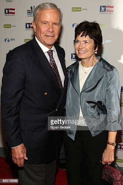 Tom Brokaw and wife Meredith attend the 2008 Stand Up For Heroes: A Benefit for the Bob Woodruff Foundation at Town Hall on November 5, 2008 in New...