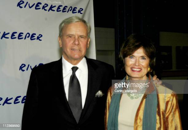 Tom Brokaw and wife Meredith Lynn Auld during The 2004 Riverkeeper Benefit Dinner at Chelsea Piers, Pier 60 in New York City, New York, United States.