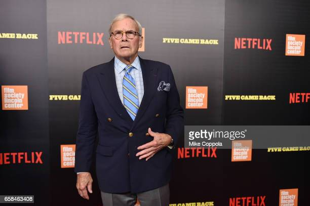 Tom Brokaw attends the Five Came Back world premiere at Alice Tully Hall at Lincoln Center on March 27 2017 in New York City
