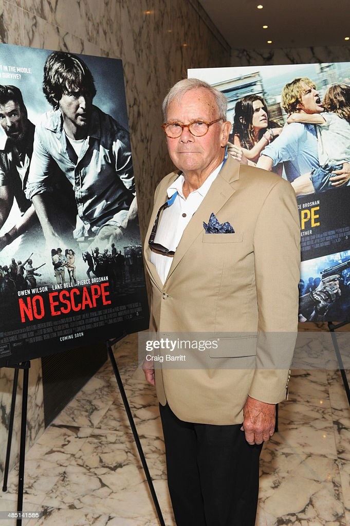 Tom Brokaw attends the special screening of NO ESCAPE with Owen Wilson, Lake Bell and Pierce Brosnan at Dolby 88 Theater on August 24, 2015 in New York City.