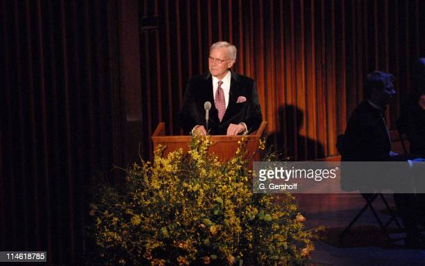 Tom Brokaw during Good Night Alice Cocktail Party and Gala Concert April 30 2007 at Alice Tully Hall in New York City New York United States