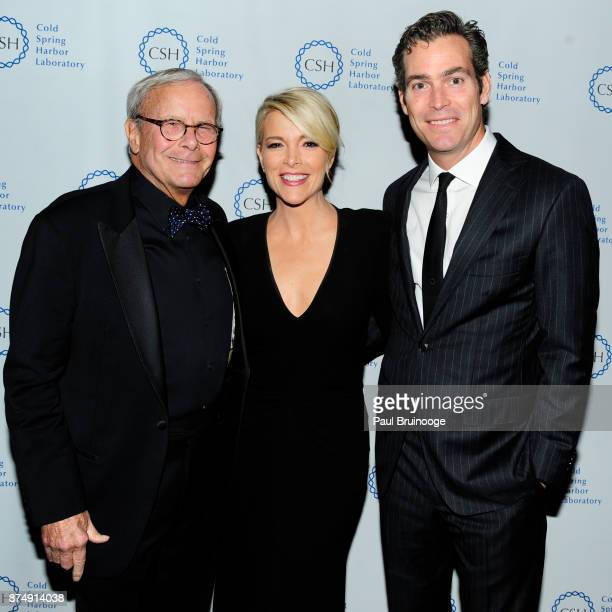 Tom Brokaw Megyn Kelly and Douglas Brunt attend the Cold Spring Harbor Laboratory Double Helix Medals Dinner at the American Museum of Natural...