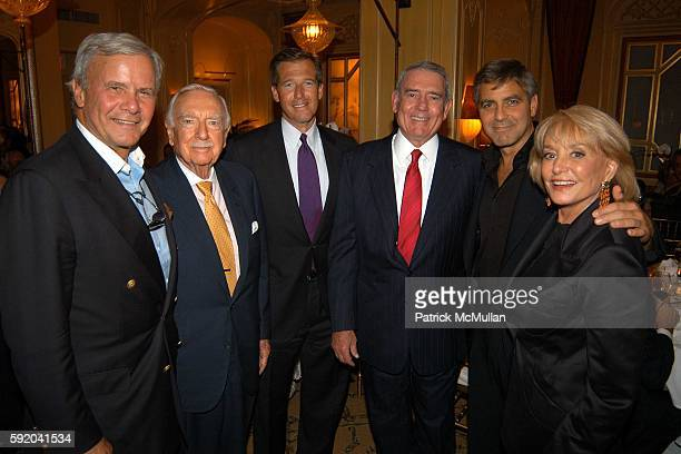 Tom Brokaw Walter Cronkite Brian Williams Dan Rather George Clooney and Barbara Walters attend Walter Cronkite Hosts a Private Screening of Warner...