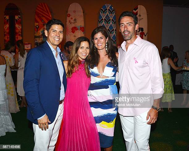 Tom Bugbee Monique Lhuillier Meghann Gunderman and Jason Sehorn attend the 2016 Hamptons Paddle Party for Pink Benefiting the Breast Cancer Research...