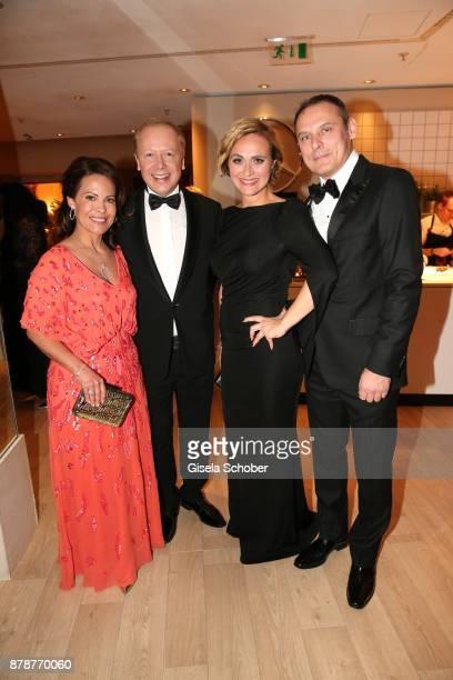 Tom Buhrow and his girlfriend Daniela Boff Caren Miosga moderator 'Tagesthemen and her husband Tobias Grob during the 66th 'Bundespresseball' at...