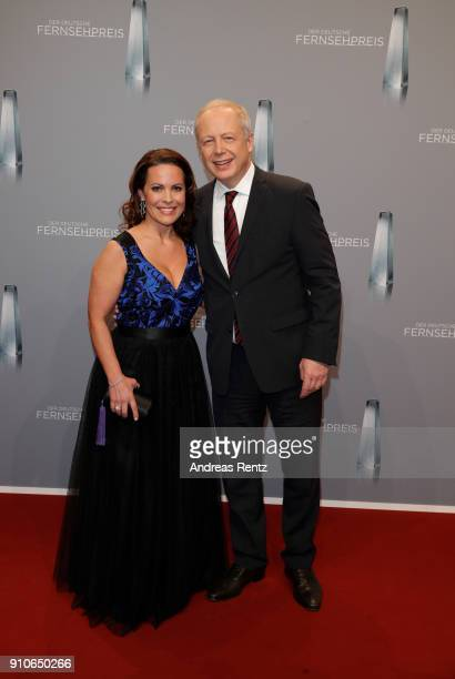 Tom Buhrow and his partner Daniela Boff attend the German Television Award at Palladium on January 26 2018 in Cologne Germany