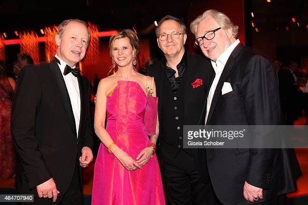 Tom Buhrow , Leslie Malton, Oliver Dittrich, Felix von Manteuffel during the Goldene Kamera 2015 after show party on February 27, 2015 in Hamburg,...