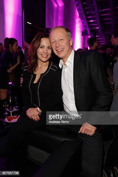 Tom Buhrow with wife Sabine Stamer attend the 1Live Krone at Jahrhunderthalle on December 1 2016 in Bochum Germany