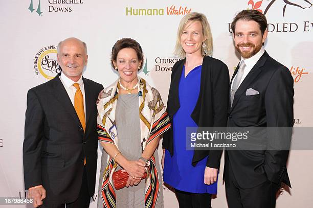 Tom Bulleit and guests attend the Unbridled Eve Gala for the 139th Kentucky Derby at The Galt House Hotel Suites' Grand Ballroom on May 3 2013 in...