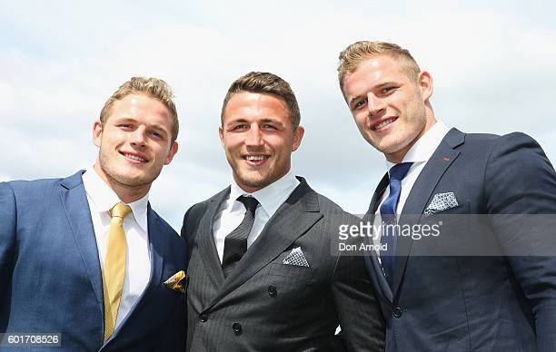 Tom Burgess Sam Burgess and George Burgess attend Golden Rose Day at Rosehill Gardens on September 10 2016 in Sydney Australia
