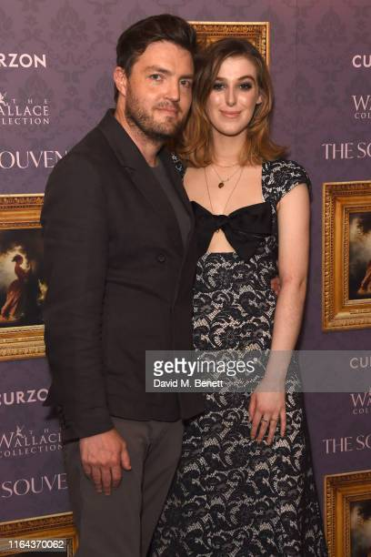 """Tom Burke and Honor Swinton Byrne attend the UK Gala Screening of """"The Souvenir"""" at The Curzon Mayfair on August 27, 2019 in London, England."""