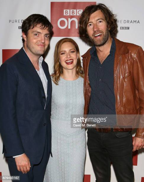 Tom Burke Holly Grainger and Michael Keiller attend a preview screening of the BBC's Strike at BFI Southbank on August 10 2017 in London England