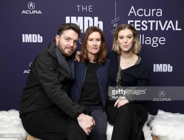 Tom Burke Joanna Hogg and Honor SwintonByrne of 'The Souvenir' attend The IMDb Studio at Acura Festival Village on location at The 2019 Sundance Film...
