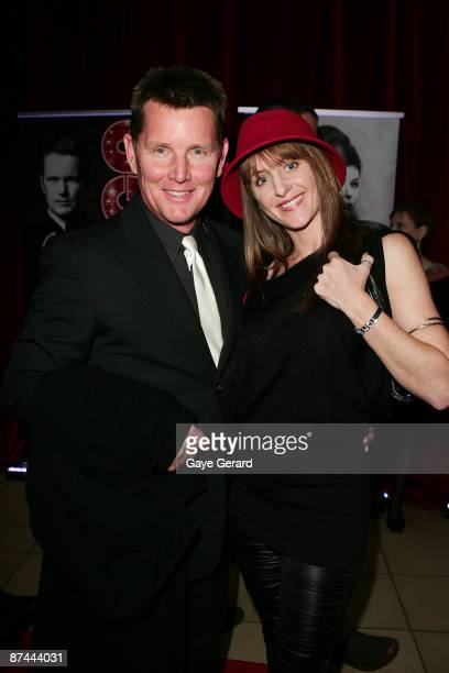 Tom Burlinson and Mandy Burlinson arrive at the opening night for the new stage prroduction of the musical 'Chicago' at Lyric Theatre Star City on...