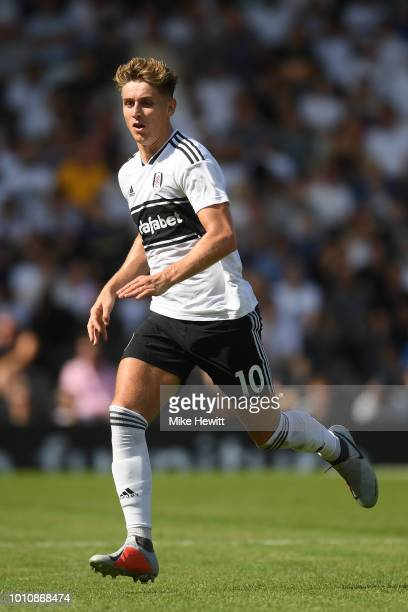 Tom Cairney of Fulham in action during a PreSeason Friendly between Fulham and Celta Vigo at Craven Cottage on August 4 2018 in London England