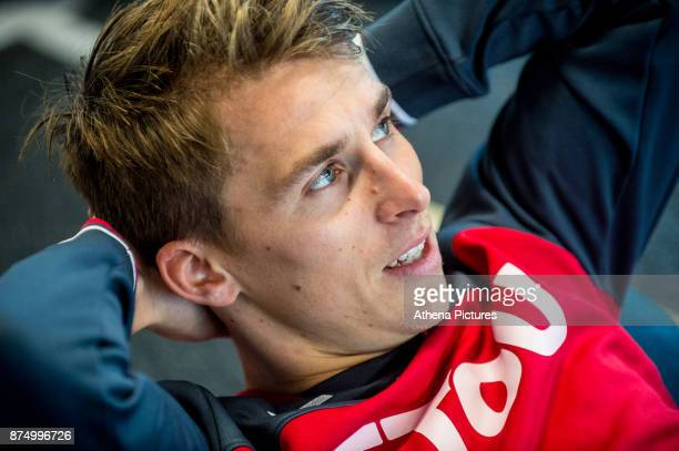 Tom Carroll exercises in the gym during the Swansea City training session at The Fairwood training Ground on November 16 2017 in Swansea Wales