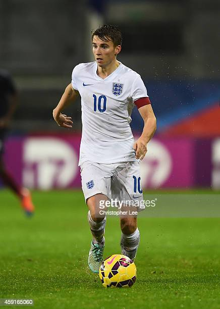 Tom Carroll of England during the U21 International Friendly match between France and England at the Stade Francis Le Ble on November 17 2014 in...