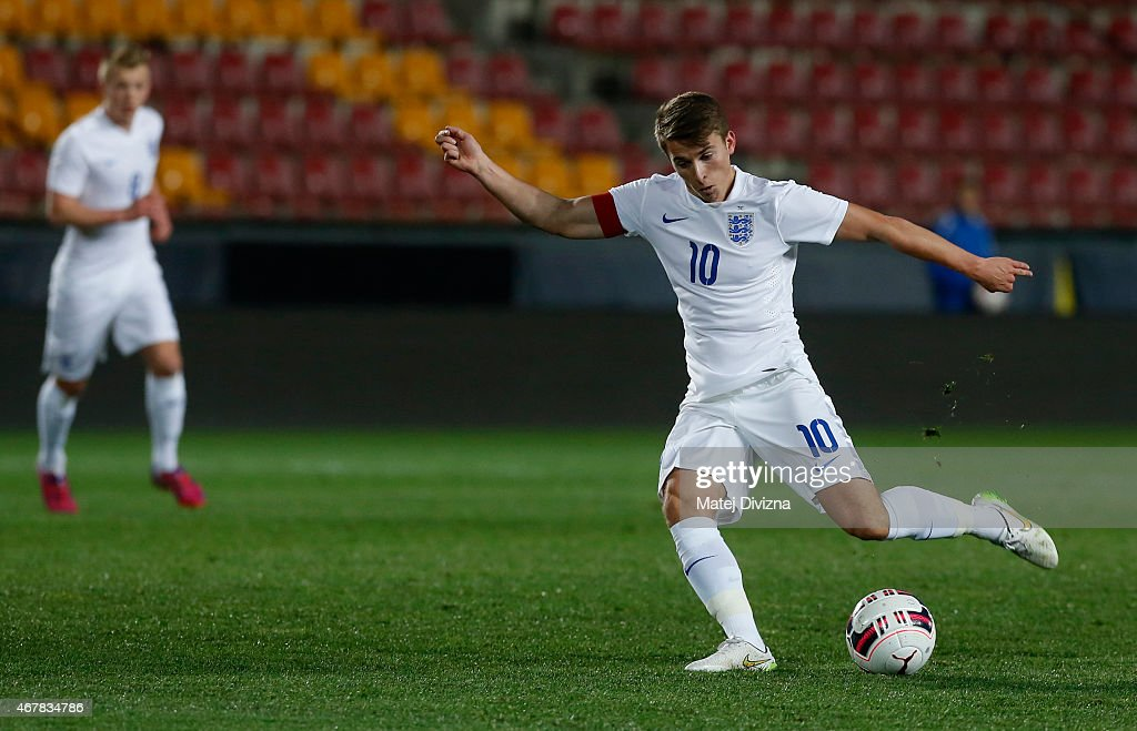 Tom Carroll of England in action during the international friendly match between U21 Czech Republic and U21 England at Letna Stadium on March 27, 2015 in Prague, Czech Republic.