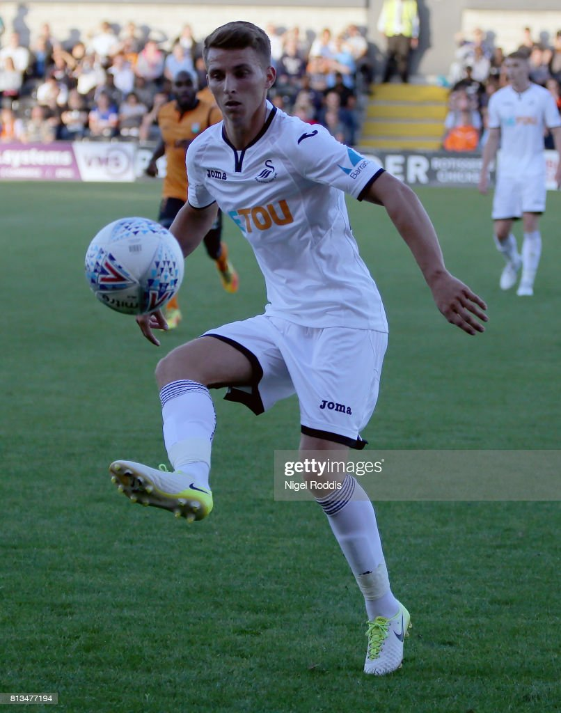 Tom Carroll of Swansea City during the pre season friendly match between Barnet and Swansea City at The Hive on July 12, 2017 in Barnet, England.