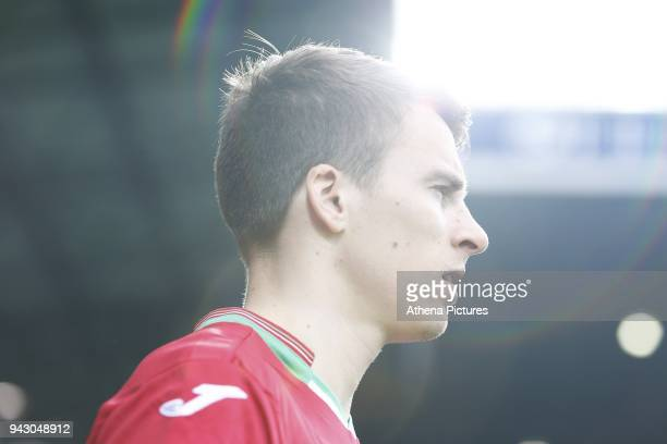 Tom Carroll of Swansea City prior to kick off of the Premier League match between Swansea City and West Bromwich Albion at the Hawthorns Stadium on...