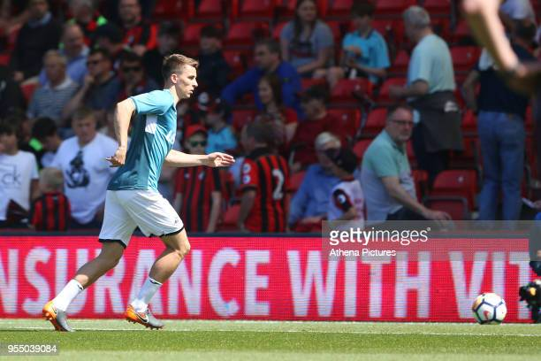 Tom Carroll of Swansea City prior to kick off of the Premier League match between AFC Bournemouth and Swansea City at Vitality Stadium on May 5 2018...