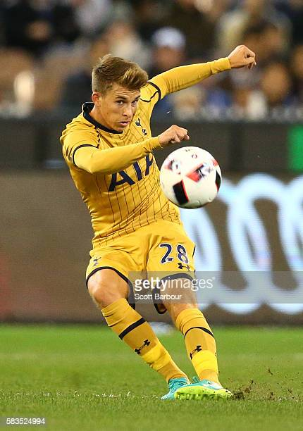 Tom Carroll of Tottenham Hotspur controls the ball during the 2016 International Champions Cup match between Juventus FC and Tottenham Hotspur at...