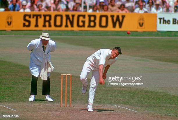 Tom Cartwright of Somerset bowling circa June 1974