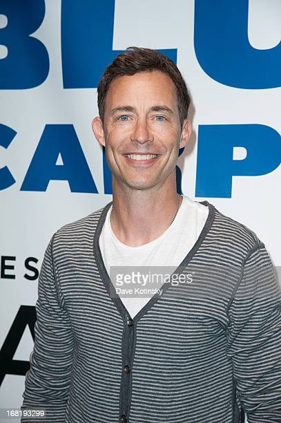 Tom Cavanagh attends the Washington Capitals vs New York Rangers 2013 Playoff Game Three at Madison Square Garden on May 6 2013 in New York City