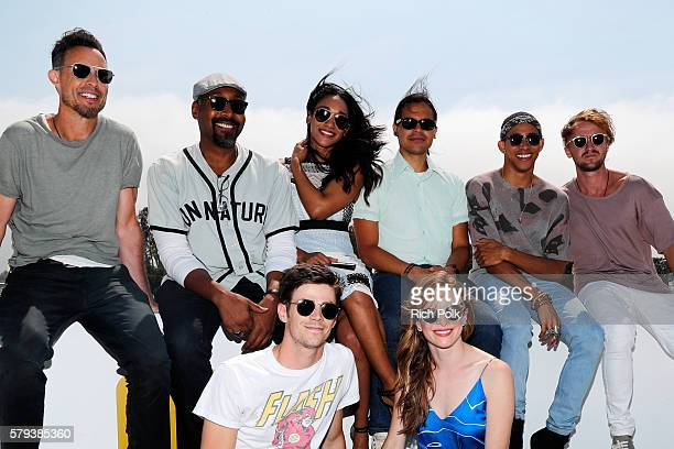 Tom Cavanagh Jesse L Martin Candice Patton Carlos Valdes Keiynan Lonsdale Tom Felton Grant Gustin and Danielle Panabaker of The Flash attend the IMDb...